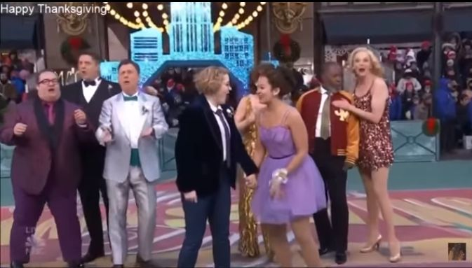 Macy's Thanksgiving Day Parade Features Lesbian Kiss During Performance of Broadway Musical 'The Prom'