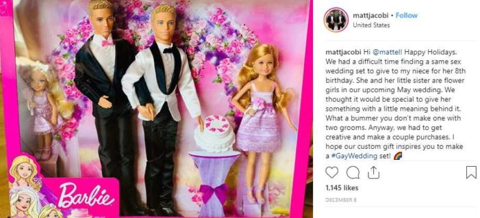 Barbie Doll Producer Mattel to Meet With Homosexual Men to Discuss Creating Same-Sex 'Wedding' Set