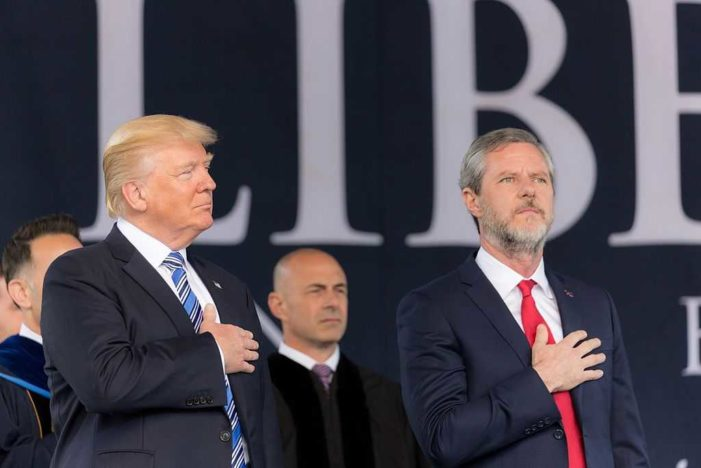 Jerry Falwell Jr. Deletes Crude Tweet Regarding David Platt's Explanation of Prayer Over Trump at Church