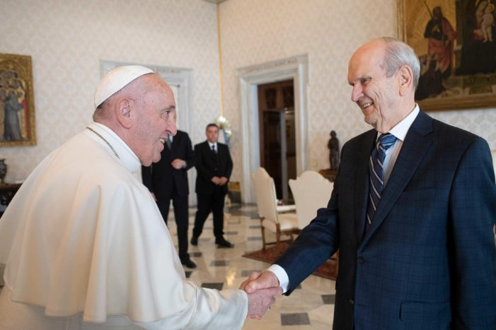'Pope Francis' Meets With Mormon Leader Russell Nelson, Discusses 'Mutual Concerns' Over Societal Issues