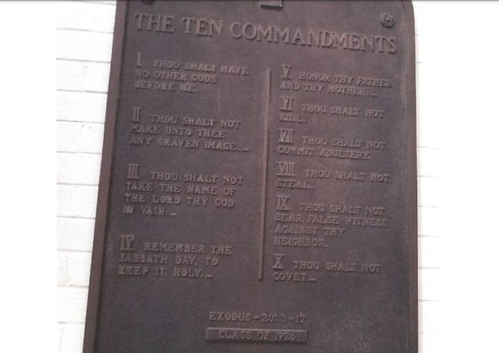 Freedom From Religion Foundation Wants Ten Commandments Plaque Removed From Ohio Middle School