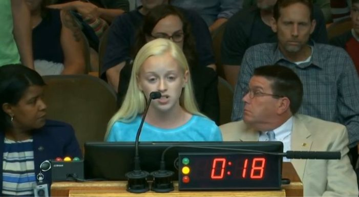 13-Year-Old's Speech Before Raleigh City Council Comparing Abortion to Slavery Met With Angry Shouts