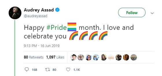Popular Catholic Worship Artist Audrey Assad 'Celebrates' Pride Month in Tweet