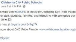 Oklahoma City School District Invites Students to Walk Alongside School Bus in Pride Parade