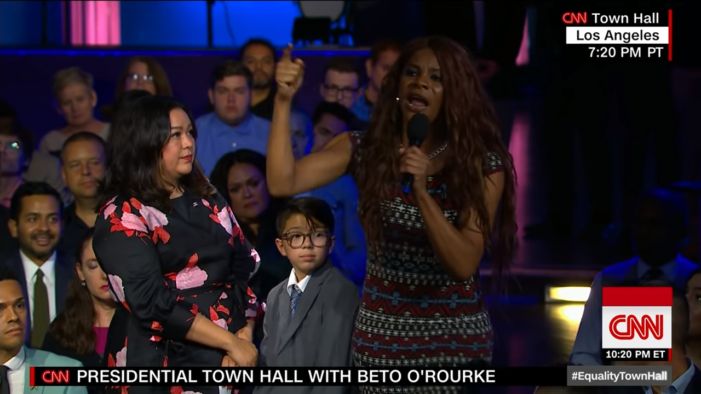 Crazed Black Man Dressed Like Woman Takes Over Mic at CNN's 'LGBTQ' Town Hall Meeting
