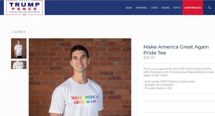 Trump Official Site Selling Pride T-Shirt, Hat to 'Show Your Support for the LGBT Community and the President'
