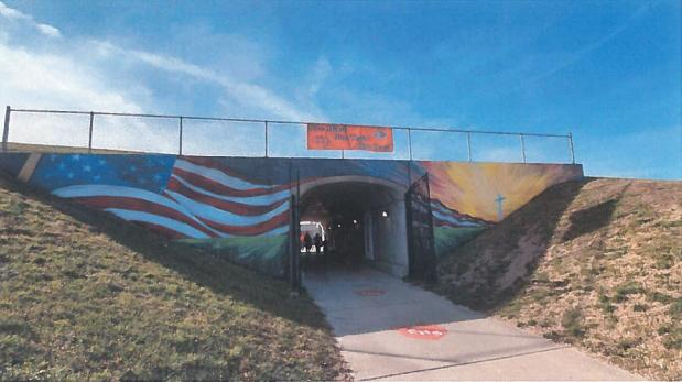 Freedom From Religion Foundation Asks City in Illinois to Remove Cross From Tunnel Mural