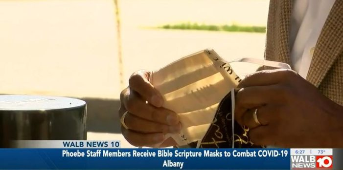 Man Delivers Over 200 Bible Verse Face Masks to Georgia Hospital, Plans to Distribute More