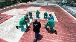 Health Care Workers Join Together on Hospital Helipads to Pray for Staff and Patients