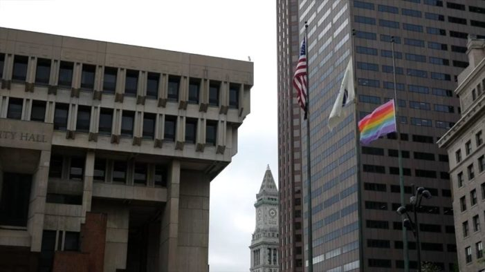 City of Boston, Which Rejected Group's Request to Fly Christian Flag, Holds Homosexual Pride Flag Raising