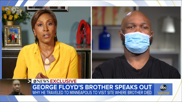 'It's Destructive Unity': George Floyd's Brother Condemns the Violence, Says His Brother 'Was About Peace'
