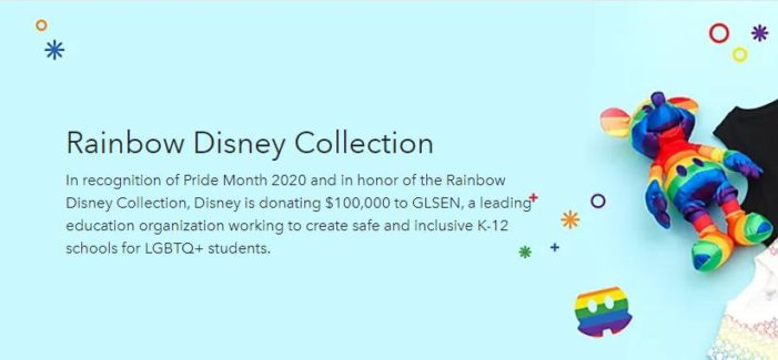 Disney Celebrates Pride Month, Donates $100K to 'Gay, Lesbian, Straight Education Network'