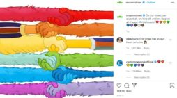 Sesame Street Tweets in Support of Homosexual Pride Month, Creates Rainbow With Characters
