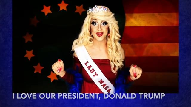 Drag Queen 'Lady Maga' Attends Rallies to Show That 'Trump Supporters Are Not Homophobic'