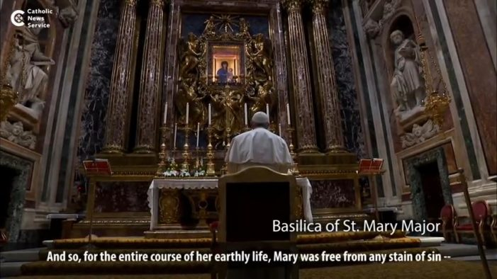 'Pope Francis' Claims: 'For the Entire Course of Her Life, Mary Was Free From Any Stain of Sin'