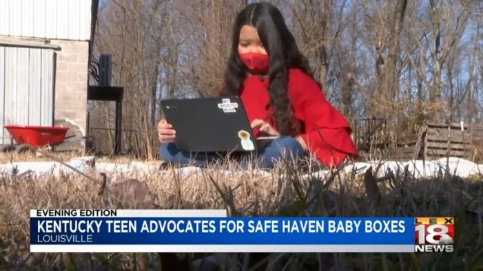 Kentucky Teen Abandoned as Newborn Advocating for Safe Haven Baby Boxes
