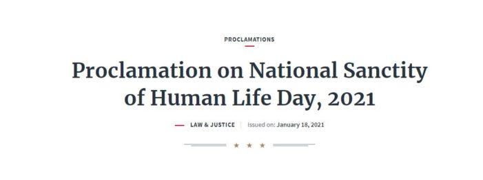 Trump Issues Proclamation Recognizing Jan. 22 as 'National Sanctity of Human Life Day'