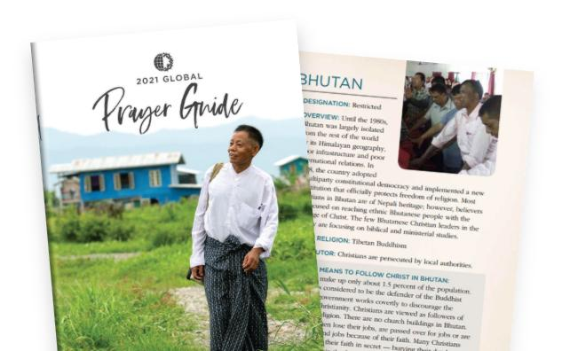 Voice of the Martyrs Releases 2021 Global Prayer Guide