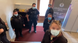 'Out! Out!' Enraged Pastor Volubly Expels Police Disrupting Passover Service