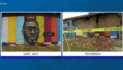 Crowned George Floyd Mural Struck by Lighting, Reduced to Rubble
