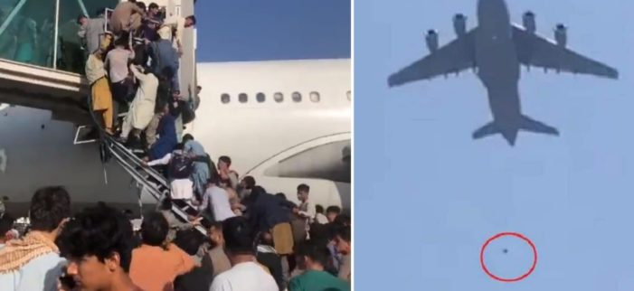 Desperate Afghans Fall from U.S. Military Plane After Clinging to Aircraft in Shocking Video