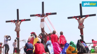 Filipinos Whip Their Backs, Have Themselves Nailed to Crosses in Effort to Atone for Sins