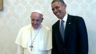 Obama Meets with Pope Francis for First Time: 'We Didn't Talk a Whole Lot About Social Schisms'