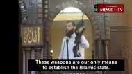 Gun-Wielding Gaza Sheikh: 'Weapons Are Our Only Means to Establish the Islamic State'