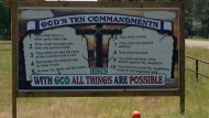 Texas DOT Orders Ten Commandments Sign to be Removed from Private Property