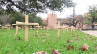 Texas Students Petition Removal of 'Insensitive' Pro-Life Display Over Christian Symbolism